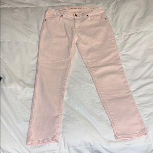 Michael Kors pink skinny jeans size 2 EUC